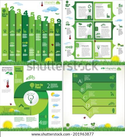 Modern ecology design template - stock vector