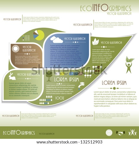 Modern Ecology infographics. Design template . Vector illustration - stock vector