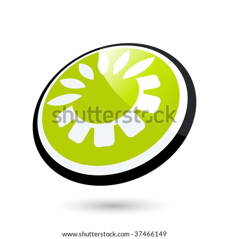 modern ecology sign - stock vector