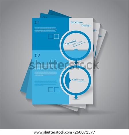 Modern elegant brochure / flyer design, eps10 Vector. - stock vector