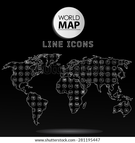 Modern elements of info graphics. Icons, symbols World Map  - stock vector