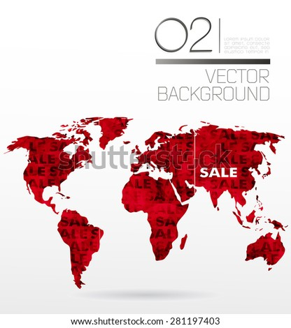 Modern elements of info graphics. Sale World Map  - stock vector