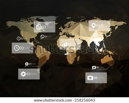 Modern elements of info graphics vector Illustration. - stock vector