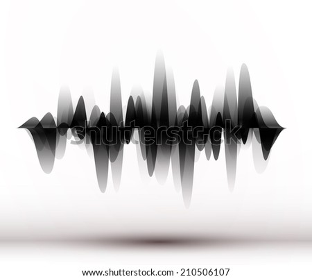 Modern equalizer. Background for music themes. Vector illustration. - stock vector