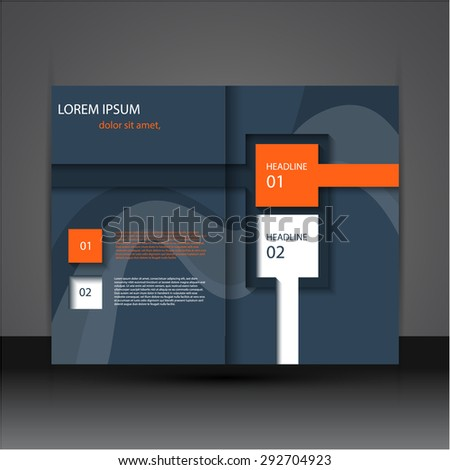 Modern flat brochure \ flyer design, eps10 vector. - stock vector