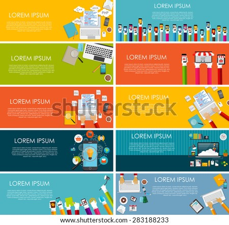 Modern Flat Design Banner for your Business Vector Illustration EPS10
