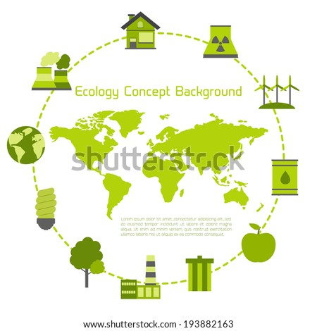 Modern flat ecology vector background for your design  - stock vector