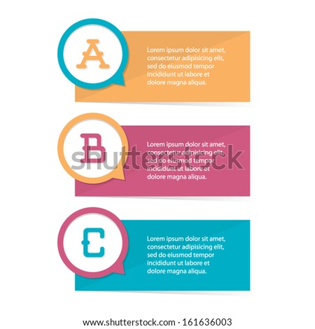 Modern Flat Step by Step - stock vector
