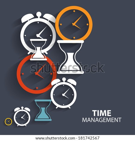 Modern Flat Time Management Vector Icon for Web and Mobile Application - stock vector