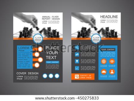 modern flyer design, cover template - stock vector