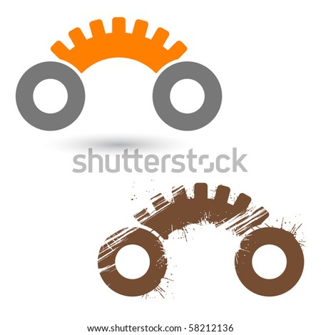 modern gear car sign - stock vector