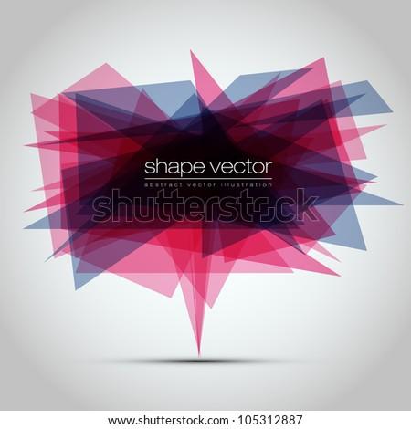 Modern geometric background - EPS10 Vector Design - stock vector