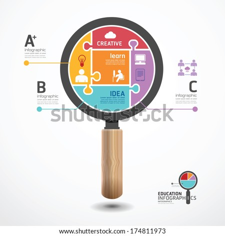 Modern geometric graph Design infographic template.graphic or website layout vector - stock vector