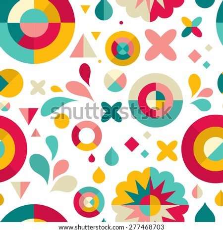 Modern geometric pattern ans abstract background - stock vector