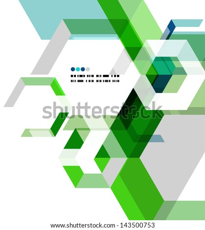 Modern geometrical abstract vector template - stock vector