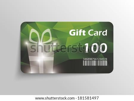 Modern gift card template - vector format - stock vector