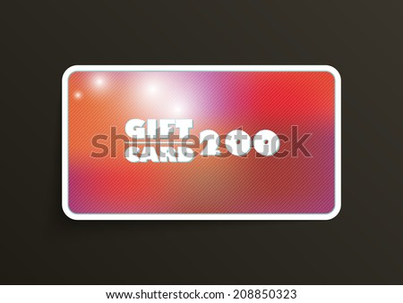 Modern gift card template - vector format - stock vector