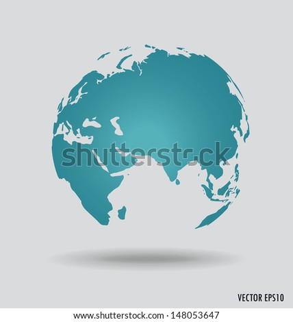 Modern globe. Vector illustration. - stock vector