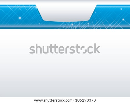 Modern glossy presentation background with room for copy, photos and more - stock vector