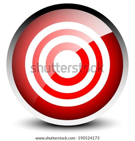 Aim Target Logo Modern Glossy Target Aim