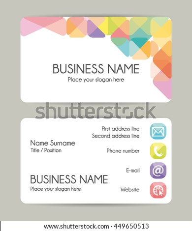 Modern graphic business card template. Vector eps10. - stock vector