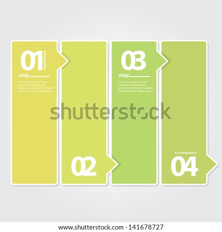 Modern Green Design template / can be used for infographics / numbered banners / graphic or website layout vector - stock vector