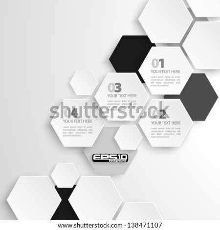 Modern Hexagon Design - eps10 - stock vector