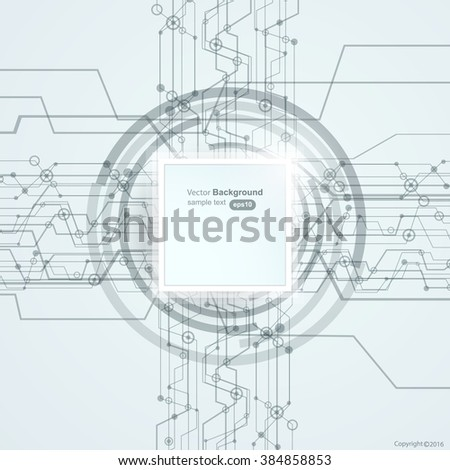 Modern high-tech business background vector design - stock vector