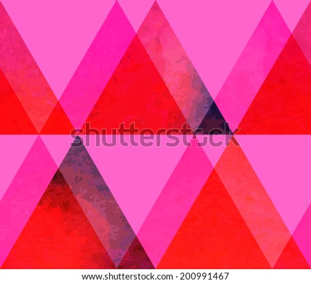 Modern hipster watercolor triangles seamless pattern. Colorful texture in hipster style. Grunge geometry template pattern. Editable. - stock vector