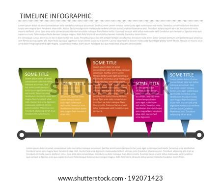 Modern horizontal timeline design template. Vector format. - stock vector