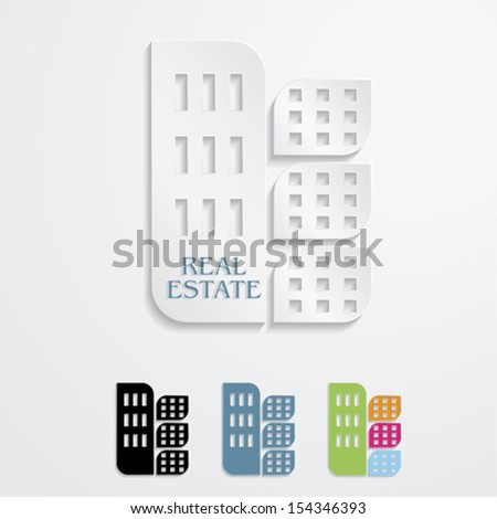 Modern icons  for Real estate business design. Vector illustration - stock vector