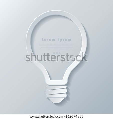 Modern idea lightbulb icon  banner template can be used for your business, web design, graphic, plan, concept idea , diagram, options, education. - stock vector