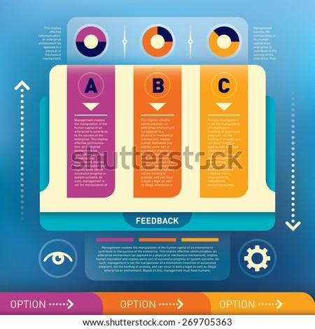 Modern info graphic illustration. Vector illustration. - stock vector