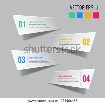 Modern Infographic design can be used for web design. - stock vector