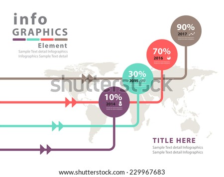 Modern infographic Design Vector - stock vector