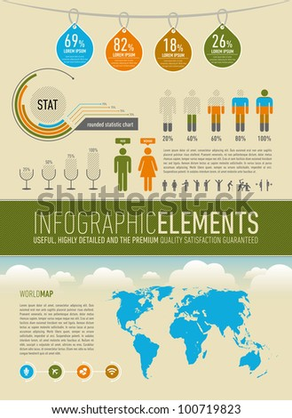modern infographic elements - stock vector