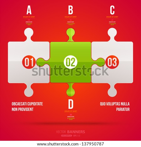 Modern infographic template for business design. Can be used for banners, cards, paper designs, website layouts, diagrams and presentations. Vector eps10 illustration. - stock vector