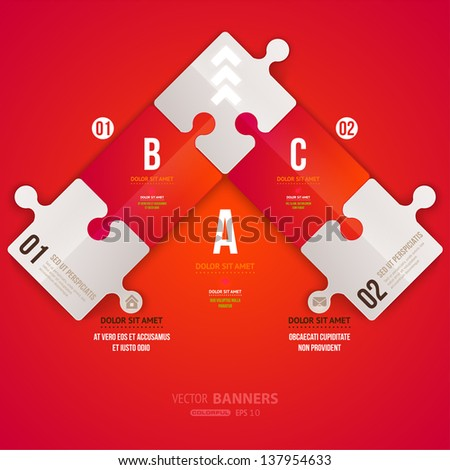Modern infographic template for business design. Can be used for infographic posters, banners, cards, paper designs, website layouts and web designs, diagrams and presentations. eps10 vector. - stock vector