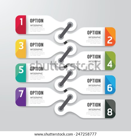 Modern infographics design options banner. Vector illustration. can be used for workflow layout, diagram, number options, graphic or website layout vector - stock vector