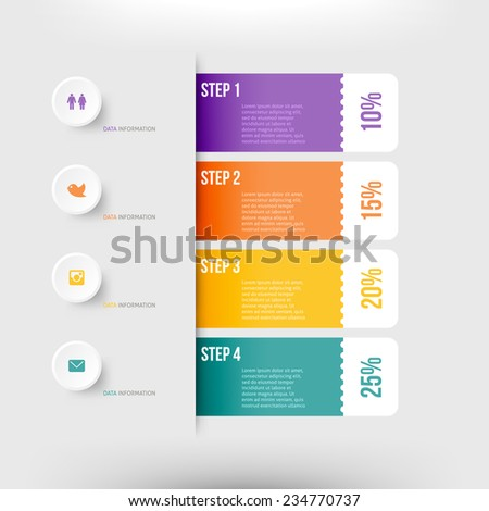 Modern infographics element number template. Vector illustration. can be used for workflow layout, diagram, business step options, banner, web design - stock vector