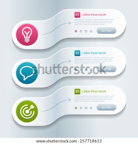 Modern infographics options banner. Vector illustration. Eps 10. - stock vector