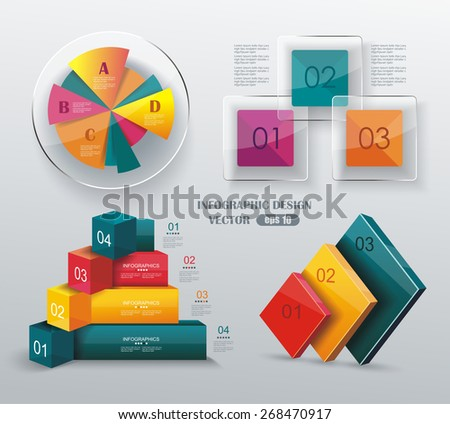 Modern infographics set. Diagram and Time Line design. Vector  - stock vector