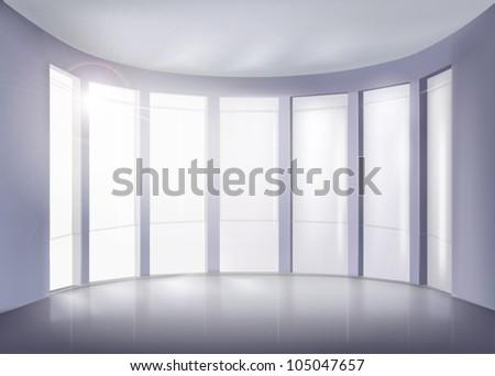 Modern interior. Vector illustration. - stock vector