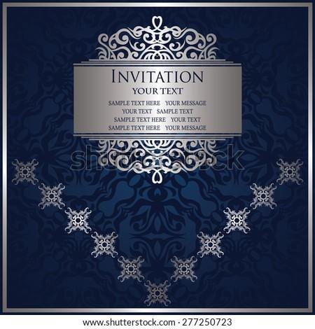 Modern invitation, vintage decoration. Original design elements, seamless backdrop                          - stock vector