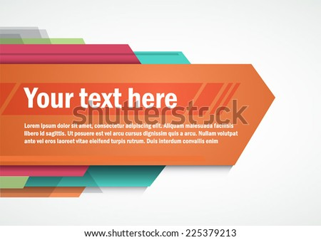 Modern layout for Poster Template Design, title template  - stock vector