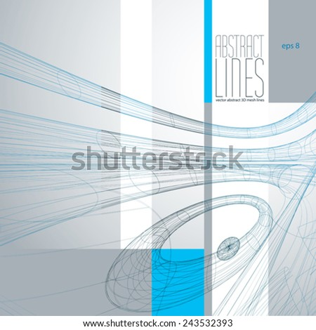 Modern Lines Background, Vector Illustration, clear eps 8 vector.       - stock vector