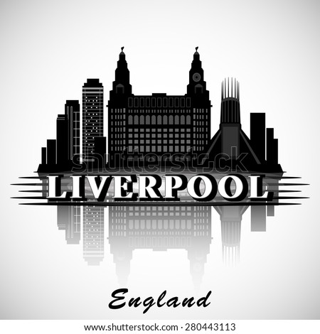 Image result for liverpool city skyline clipart
