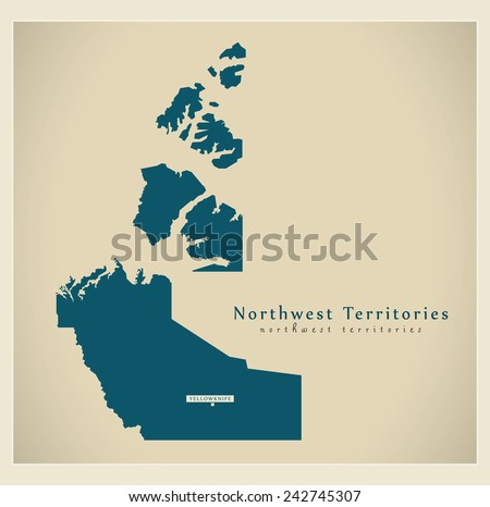 Modern Map - Northwest Territories CA - stock vector