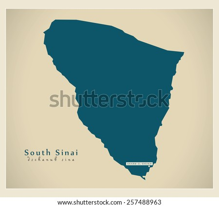 Modern Map - South Sinai EG - stock vector