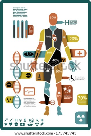 Modern medical infographic - stock vector